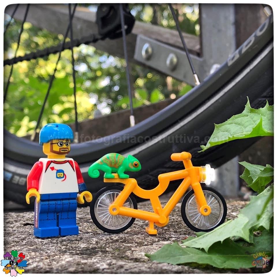14-09-2019 Giulio De Bortoli 50 Oggi, durante la nostra pedalata, MiniG ha trovato un insolito passeggero sulla sua bici 😃💚 — presso Bertoki.