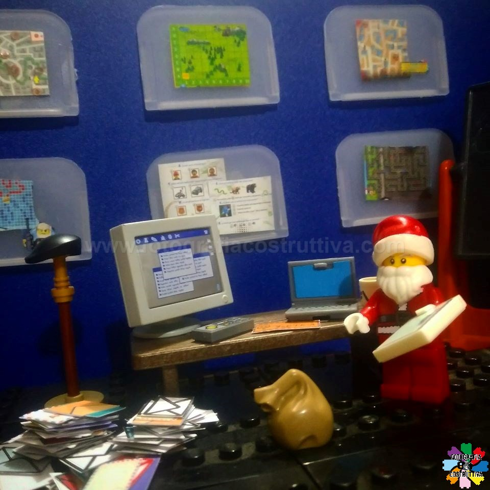 16-12-2019 Luiggi Rossetti 58 Babbo Natale è nel suo quartier generale a pianificare il suo percorso ed a fare la sua lista, ti avrà incluso