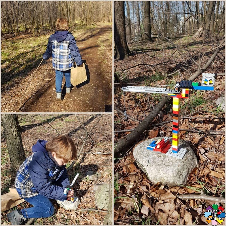 03-03-2020 Marzia Priori 64 In questi gg di scuola chiusa si va sempre nel bosco ...con il Lego
